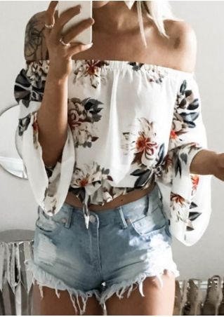 Floral Off Shoulder Crop Top