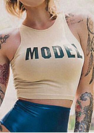 Model O-Neck Sleeveless Tank