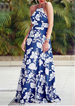 Floral Spaghetti Strap Maxi Dress