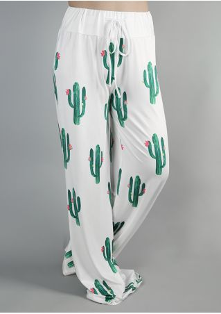 Cactus Drawstring Wide Leg Pants