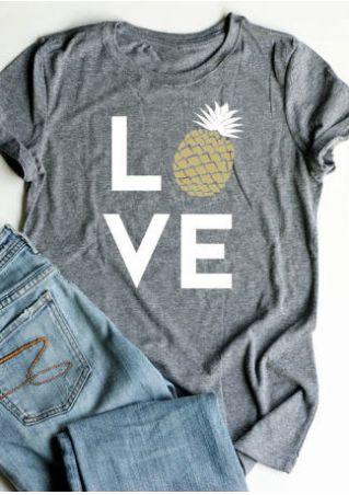 Love Pineapple Short Sleeve T-Shirt