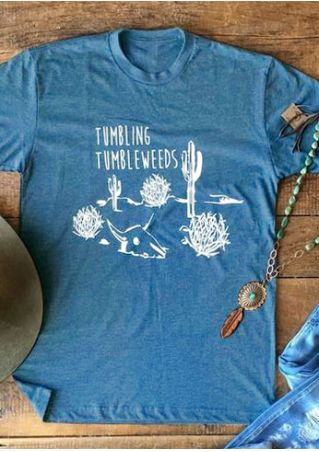 Tumbling Tumbleweeds Cactus Short Sleeve T-Shirt