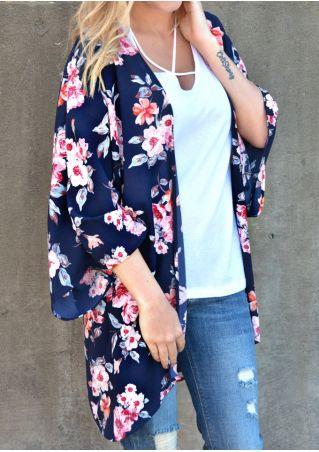 Floral Chiffon Kimono Cardigan