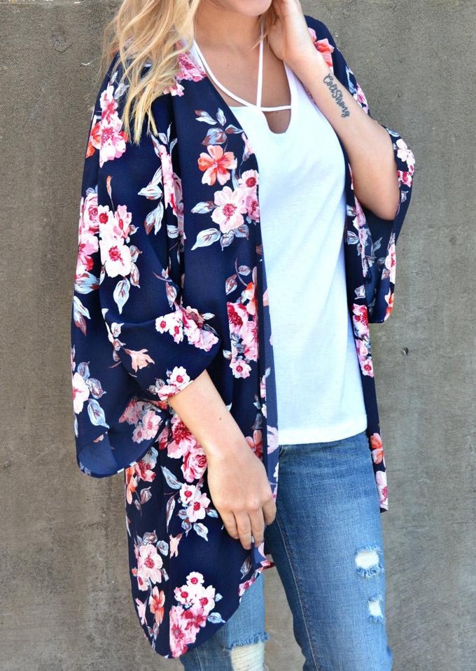 Floral Chiffon Kimono Cardigan Fairyseason