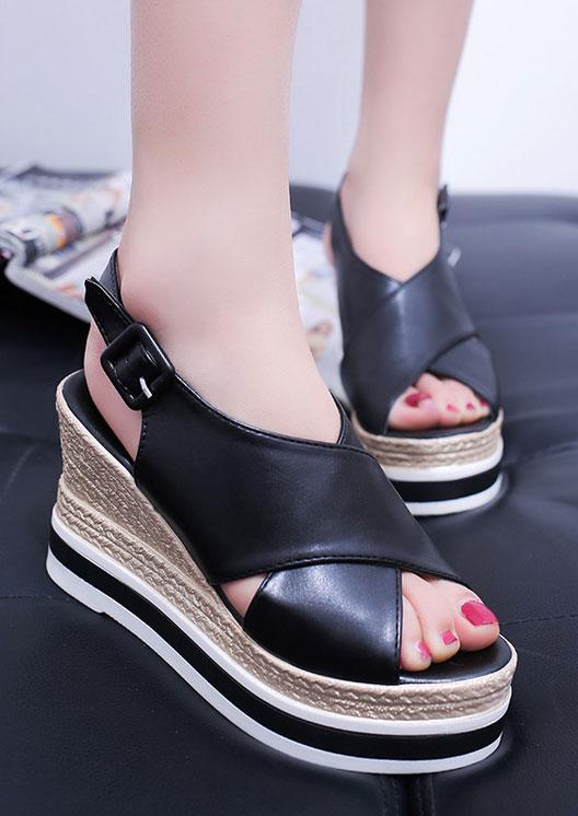 5ab3226be2f Color Block Slingbacks Wedge Sandals