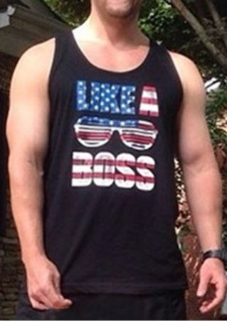 Like A Boss American Flag Tank