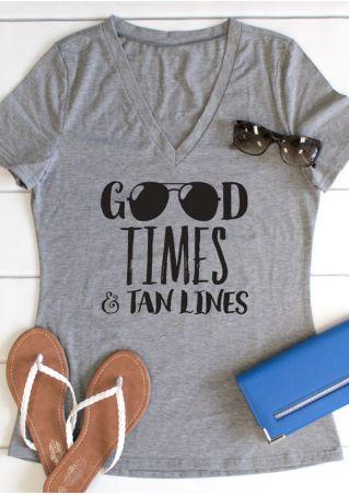Good Times & Tan Lines V-Neck T-Shirt