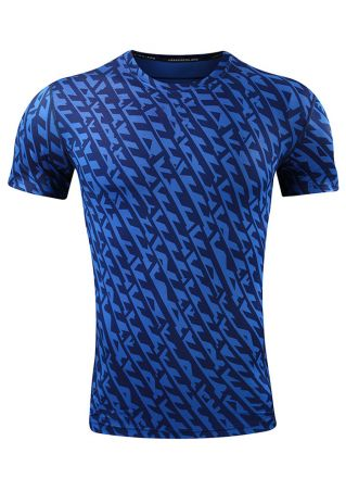 Printed O-Neck Short Sleeve T-Shirt