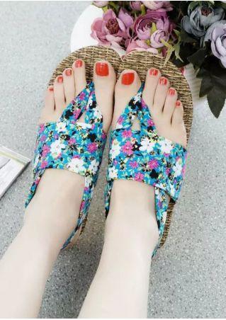 Summer Floral Flat Sandals