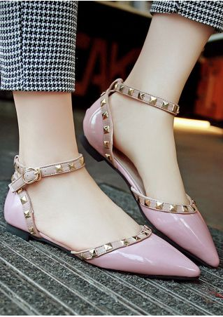 Summer Rivet Ankle Strap Flats