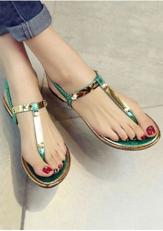 Summer Elastic Band Flat Sandals