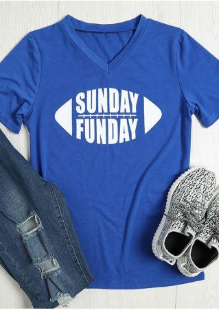 Sunday Funday V-Neck T-Shirt