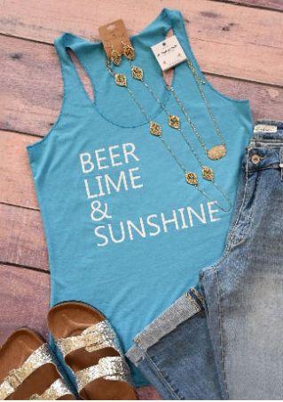 Beer Lime & Sunshine Sleeveless Tank Beer