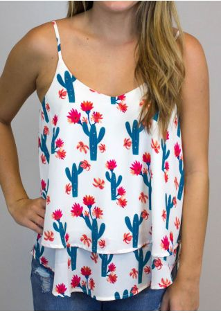 Floral Cactus Layered Camisole Floral