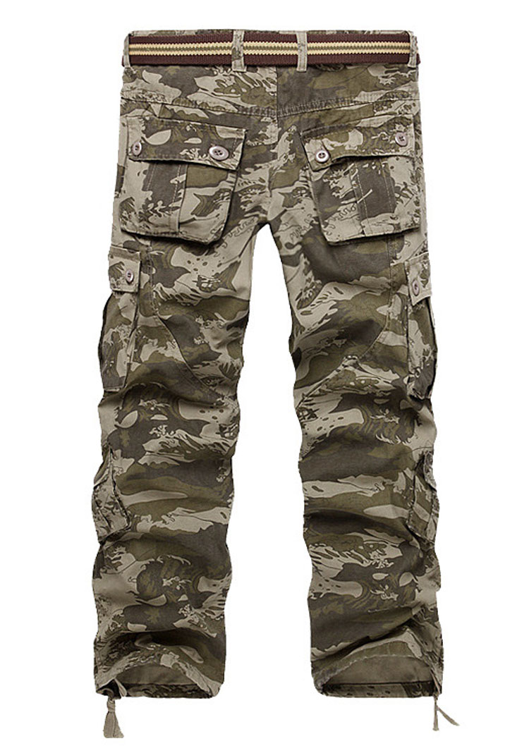 6285d8bf00 Camouflage Printed Pocket Pants without Belt - Fairyseason