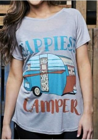 Happiest Camper O-Neck T-Shirt
