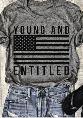 Young And Entitled American Flag T-Shirt