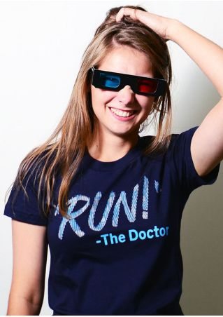 Run The Doctor O-Neck T-Shirt