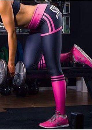 SIXD Color Block Slim Leggings
