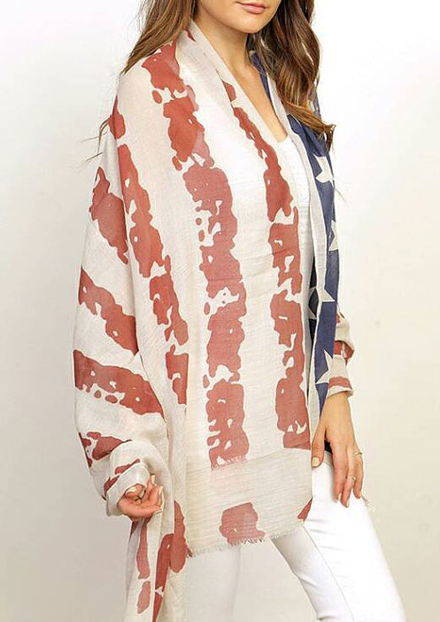 Image of American Flag Printed Scarf