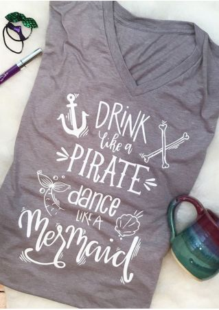 Drink Like A Pirate T-Shirt Drink