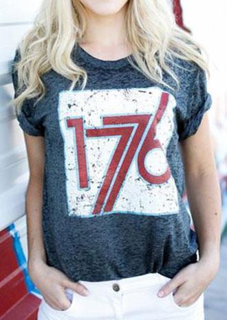 Image of 1776 O-Neck Short Sleeve T-Shirt