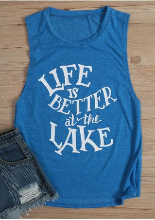 Life Is Better At The Lake O-Neck Tank