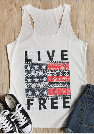 Live Free O-Neck Sleeveless Tank