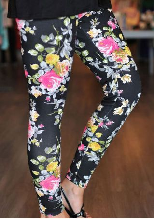 Floral Ankle Length Skinny Leggings