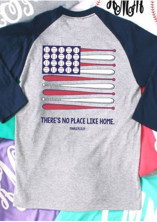 There's No Place Like Home Baseball T-Shirt