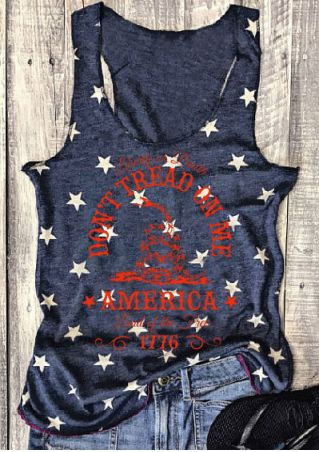 Don't Tread On Me America Star Printed Tank Don't