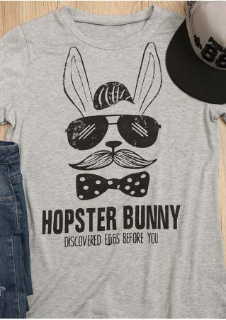 Hopster Bunny O-Neck Casual T-Shirt