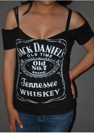 Jack Daniel's Cold Shoulder Blouse