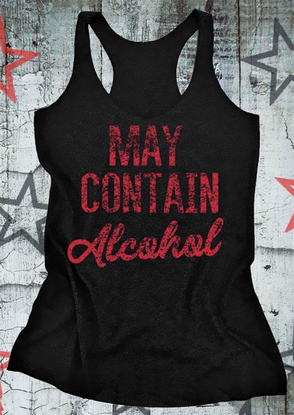 May Contain Alcohol O Neck Tank Fairyseason