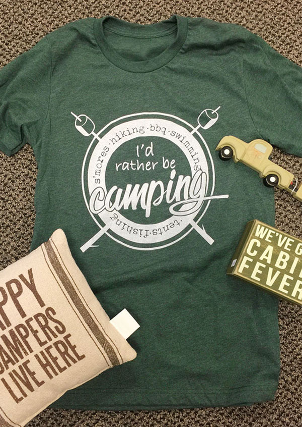 Image of I'd Rather Be Camping T-Shirt