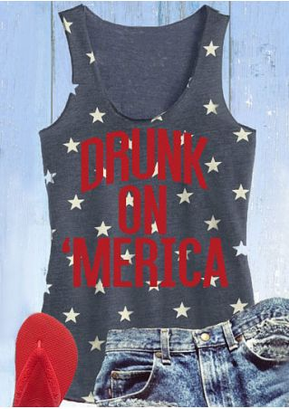 Drunk On 'Merica Star Tank