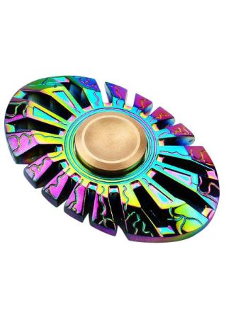 Oval Colorful Finger Fidget Spinner
