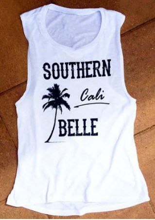 Southern Cali Belle Printed Tank