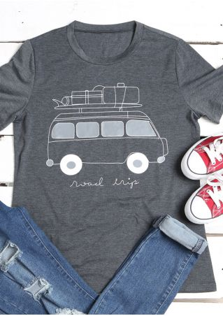 Road Trip O-Neck Short Sleeve T-Shirt