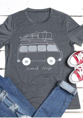 Road Trip O-Neck Short Sleeve T-Shirt