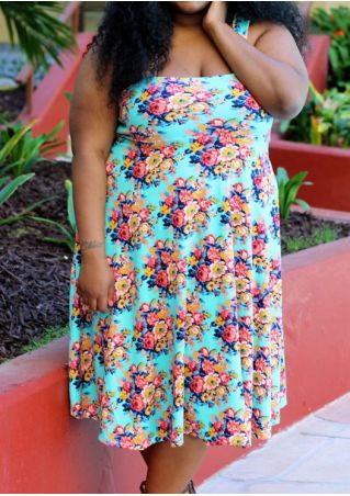 Floral Sleeveless Casual Dress