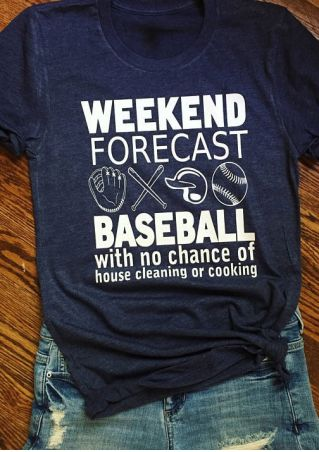 Weekend Forecast Baseball O-Neck T-Shirt