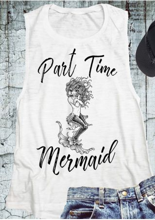 Part Time Mermaid O-Neck Tank