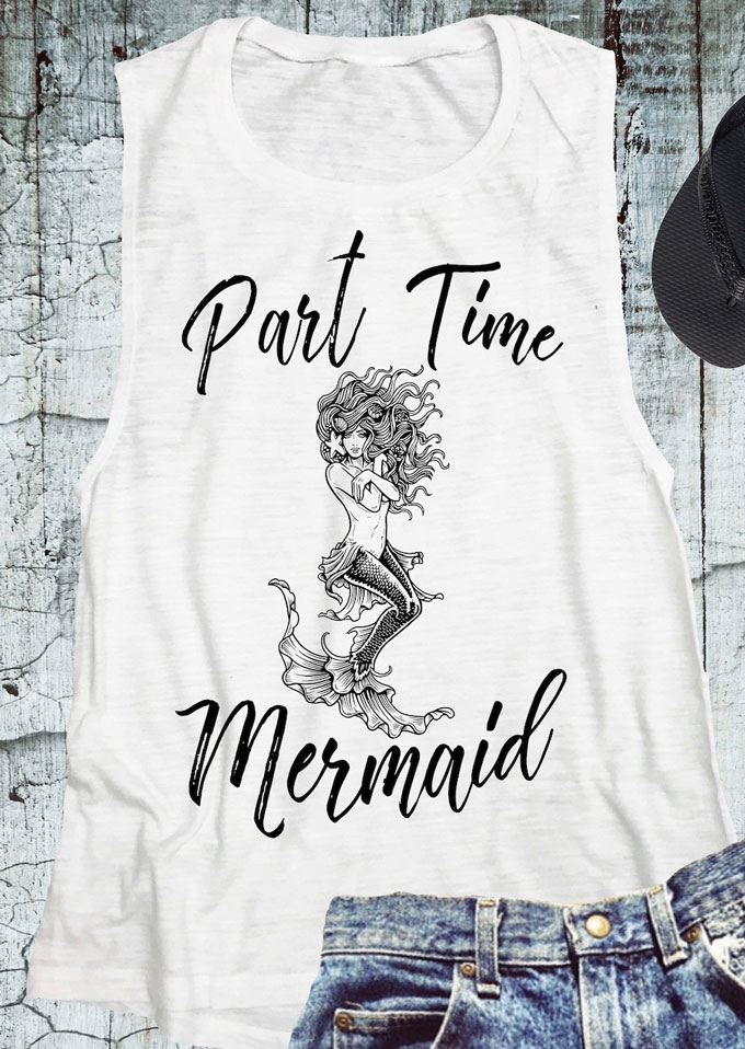 Part Time Mermaid O-Neck Tank thumbnail