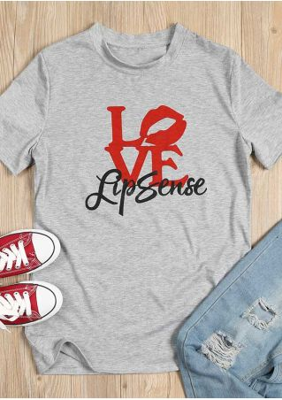 Love Lipsense O-Neck Short Sleeve T-Shirt