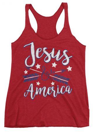 Jesus America Arrow Star Tank