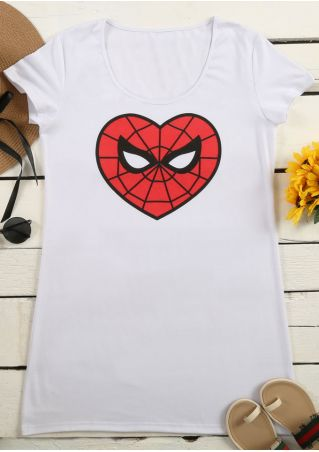 Spider-Man Heart Printed Mini Dress