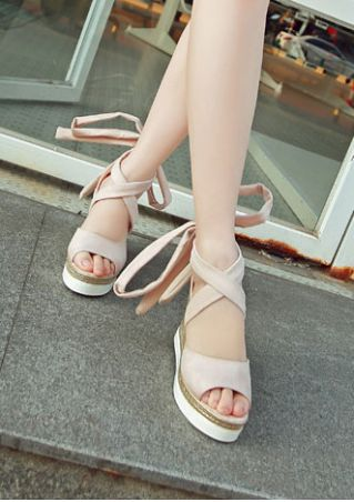 Summer Ankle Wrap Wedge Sandals