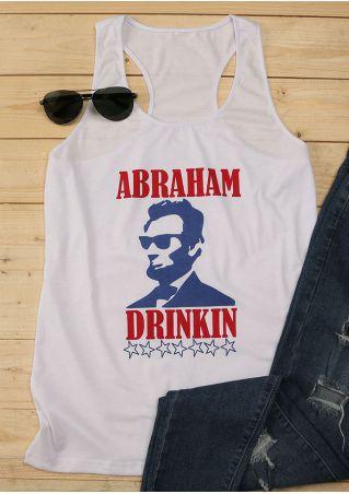 Abraham Lincoln Printed Drinkin Tank Abraham
