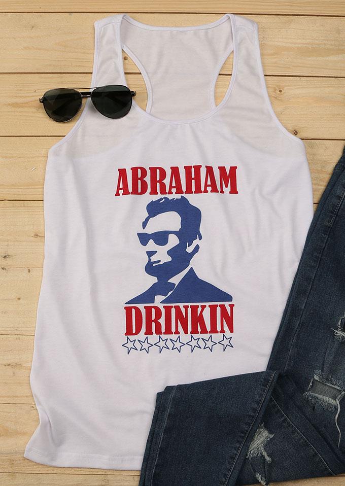 Image of Abraham Lincoln Printed Drinkin Tank